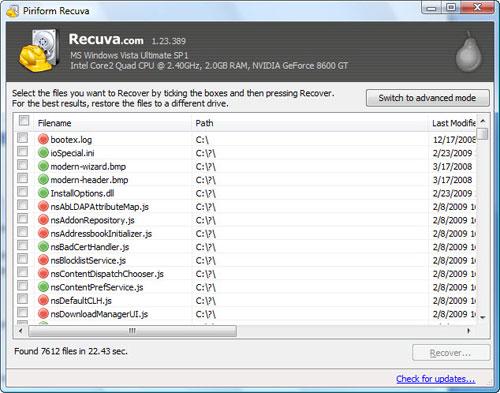Recuva - Utilitário ajuda a recuperar arquivos apagados de seu computador