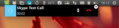 Notificações do Skype 4.3 no Ubuntu