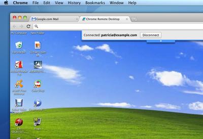 Área de trabalho remota com Google Chrome