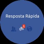 Ícone responde rápido do Facebook