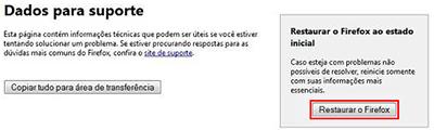 Restaurar Firefox configuração inicial